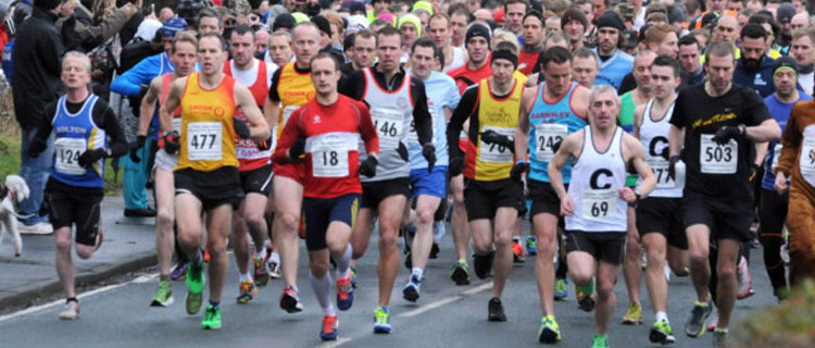 Runners at the Central Lancashire half marathon