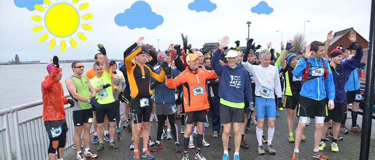 Runners before the Liverbird Double Day Marathon